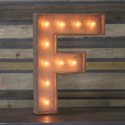 marquee letter - f